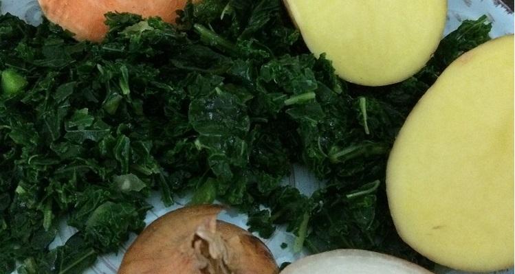 Grünkohleintopf mit Kokosmilch