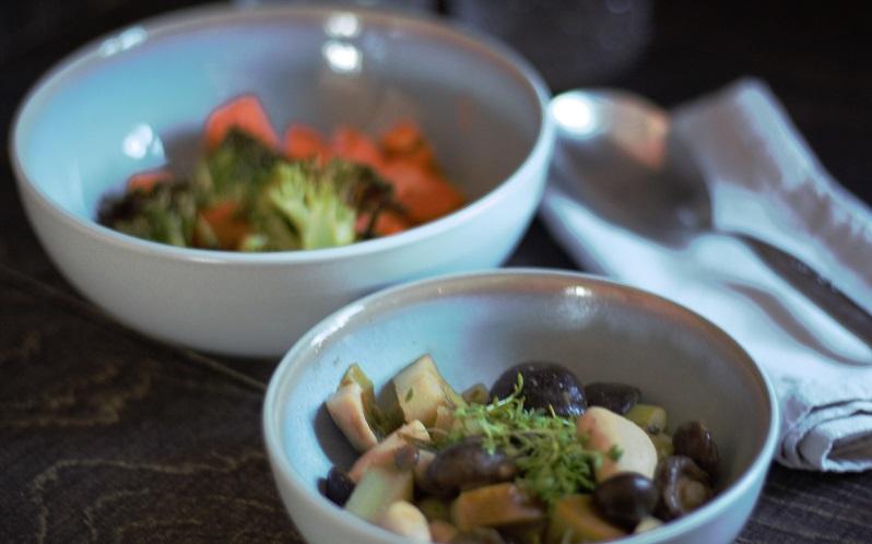 Zweierlei – 2 x Gemüse, 2 x Pilze, 1 x Birne – lecker!