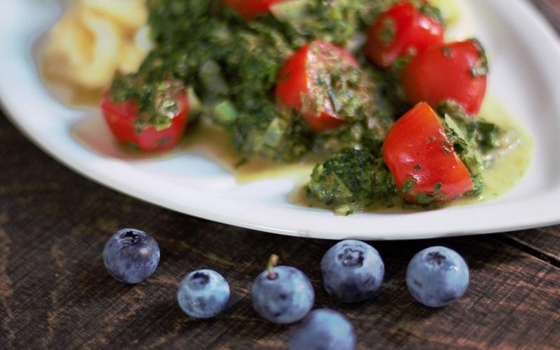 Spinat – Spätzle mit Kokosmilch, köstlich schneller Sommergenuss